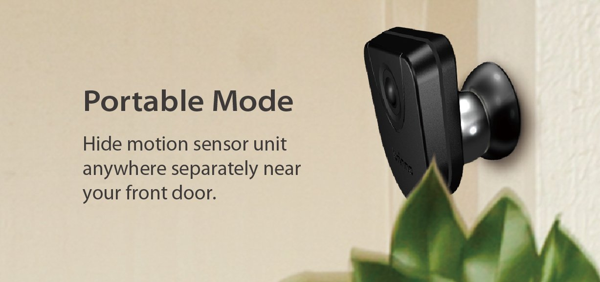 Brinno Front Door Peephole Security Camera- Motion Detection - Knocking Sensor- Easy to Install- Superior Battery Life - Clear Image - Wire-Free - Digital Visitor Log- Black (SHC1000)