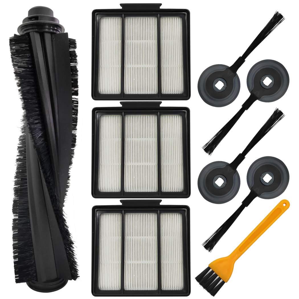 Ugardo Replacment Parts Compatible Shark ION Robot Vacuum Cleaner S87 R85 RV850 RV850BRN, RV850WV, RV851WV, RV700_N, RV720_N, RV750_N Accessories (1 Roller Main Brush & 3 Hepa Filter & 4 Side Brushes