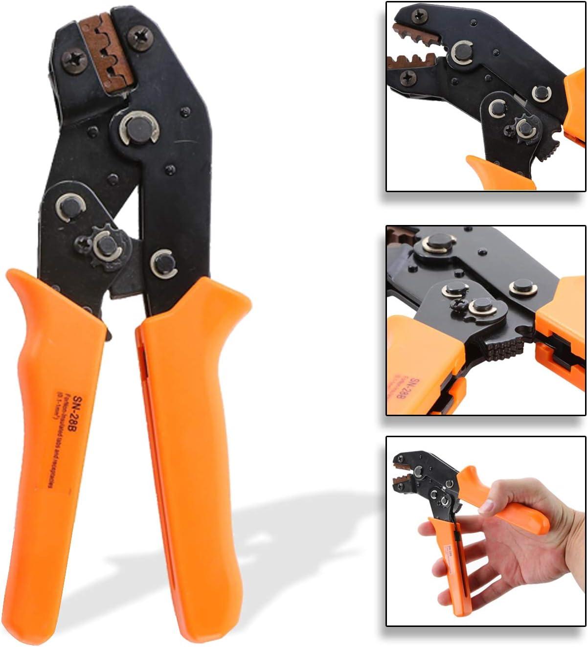 Ratchet Crimper Plier SN-28B Dyna-Living Crimping Tool Kit 1550PCS Combination