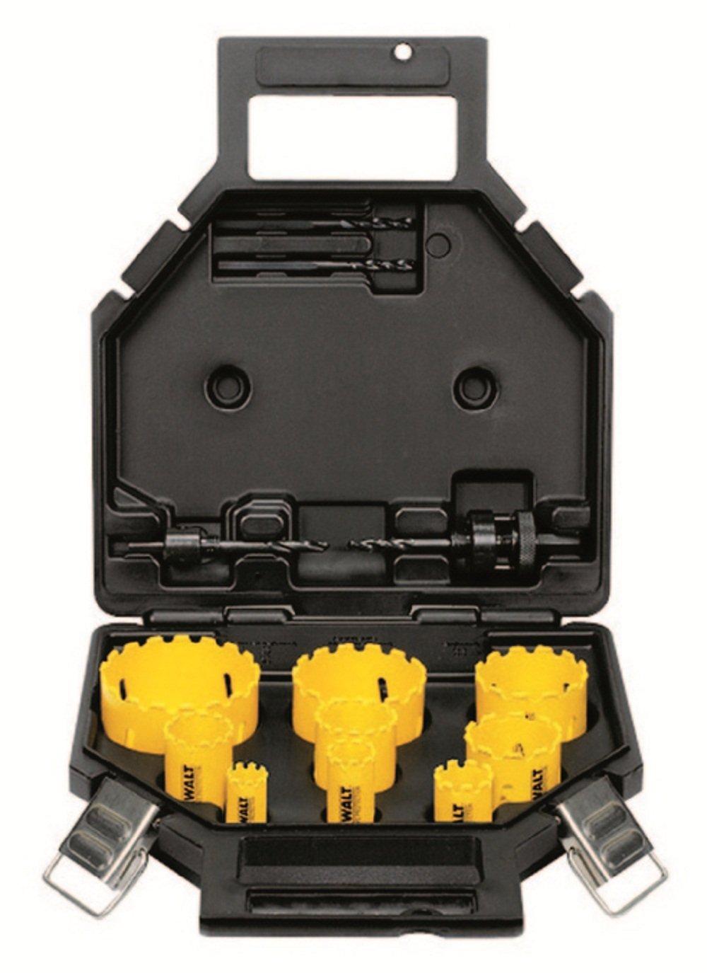 para fontaneros en malet/ín 13 Piezas Dewalt Juego de Coronas de Metal Duro DT8278-QZ-