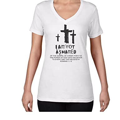 a5f5f9c3afb43 Amazon.com: AW Fashions I am Not Ashamed - Love for The Church and ...