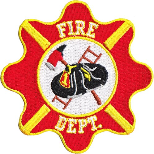 Application Rescue Fire Dept. Crest Patch (Fire Dept Embroidery)