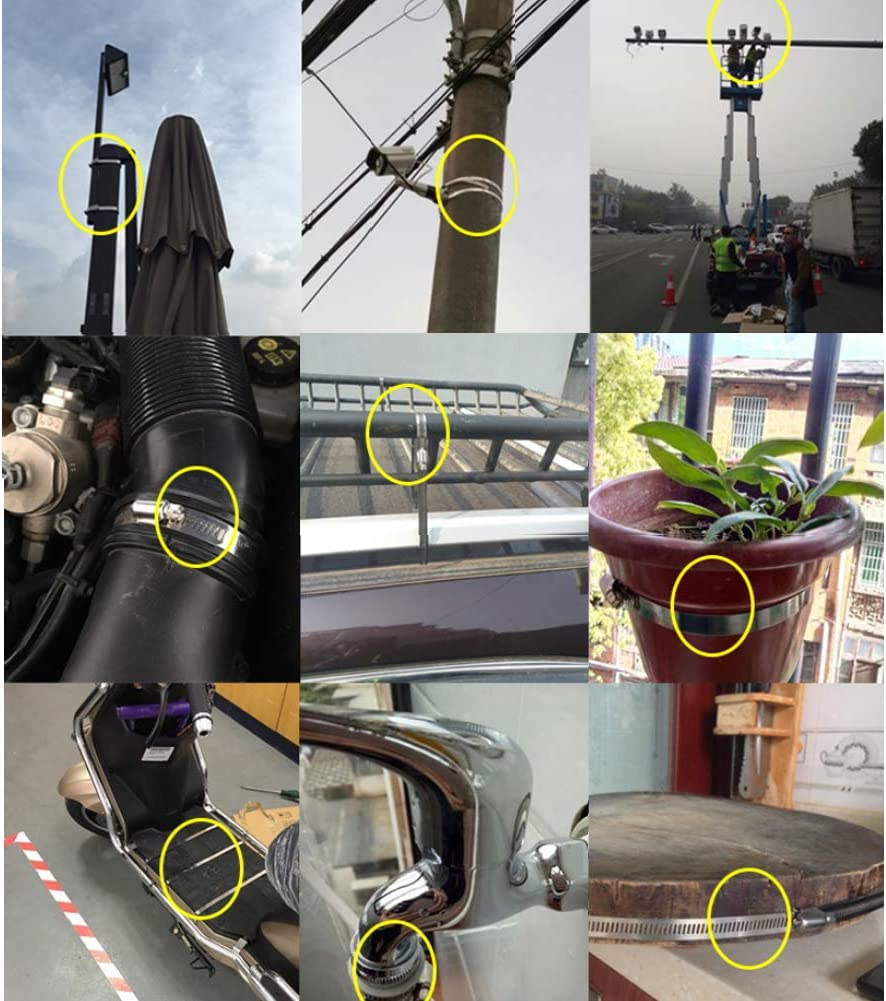 R/églable M/étal Conduit Serre Joints a Tuyaux pour Fixation Flexible Tube Daytwork Outils /à main Acier Inoxydable Tuyau Pince Colliers de Serrage