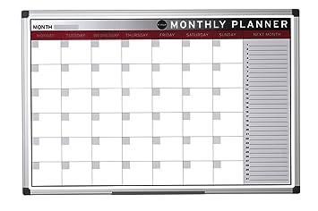 Bi-Office Earth - Planning Mensual, 90 x 60 cm, Pizarra de ...