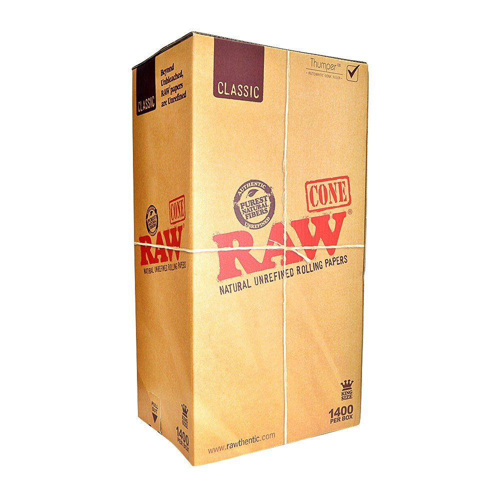 RAW Pre-Rolled Cones - King Size (2 Cases - 1,400/Case) - MJ-13447