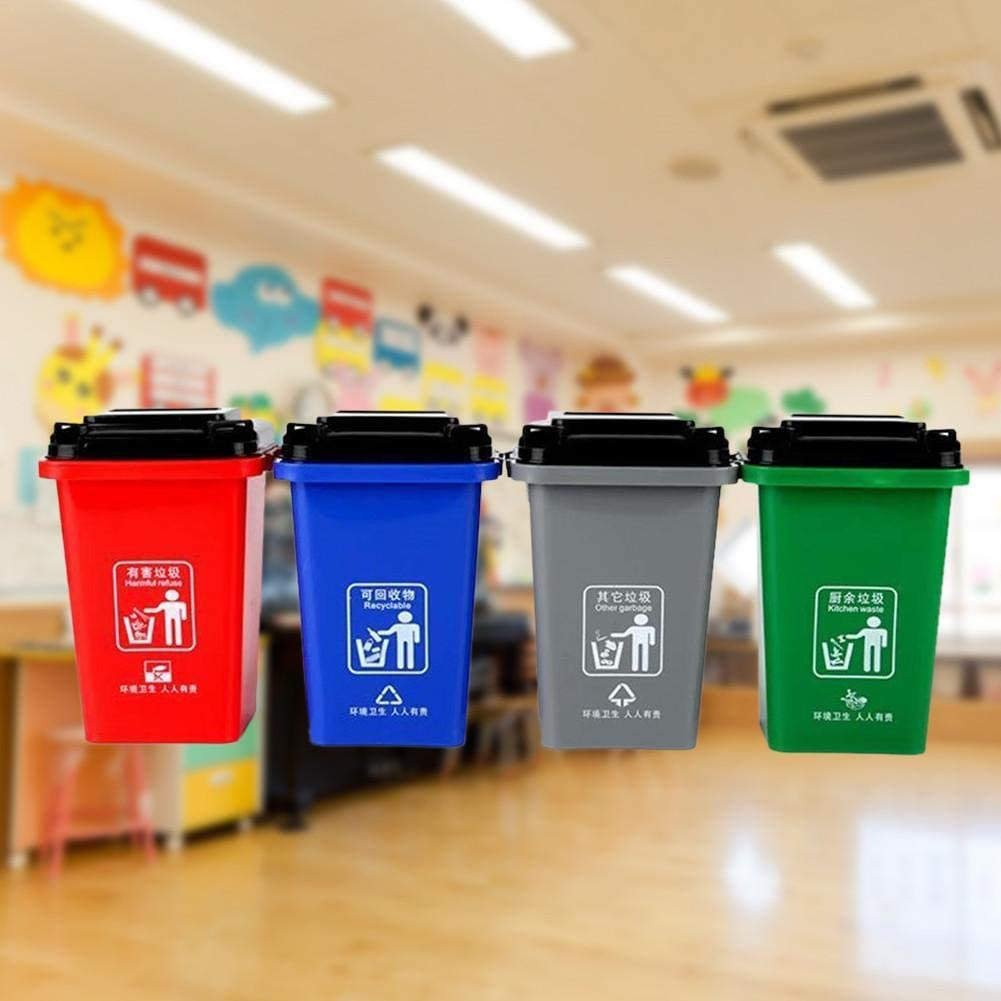 440 Pieces Building Bricks Block Kids Toy Trash Cans Push Vehicles Garbage Cans Compatible Bricks with All Major Brands