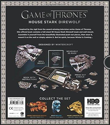 game of thrones mask house stark direwolf steve wintercroft