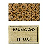Rubber-Cal Walk Off Coco Coir Mats (Set of 2), 18 x 30
