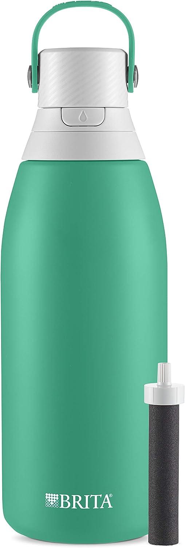 Brita 36478 Premium Filtering Water Bottle, 32 Ounce, Jade