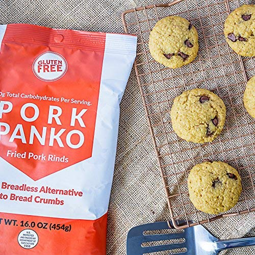 Pork Panko - 0 Carb Pork Rind Breadcrumbs - Keto and Paleo Friendly, Naturally Gluten-Free and Carb-Free, Crispy Topping, Pork Chop Breading, Paleo Crab Cakes, Keto Meatloaf (16oz) 5
