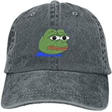 WHROOER Frog Pepe Adult Cowboy Hat Baseball Cap Adjustable Athletic Making Fashion Hat for Men and Women