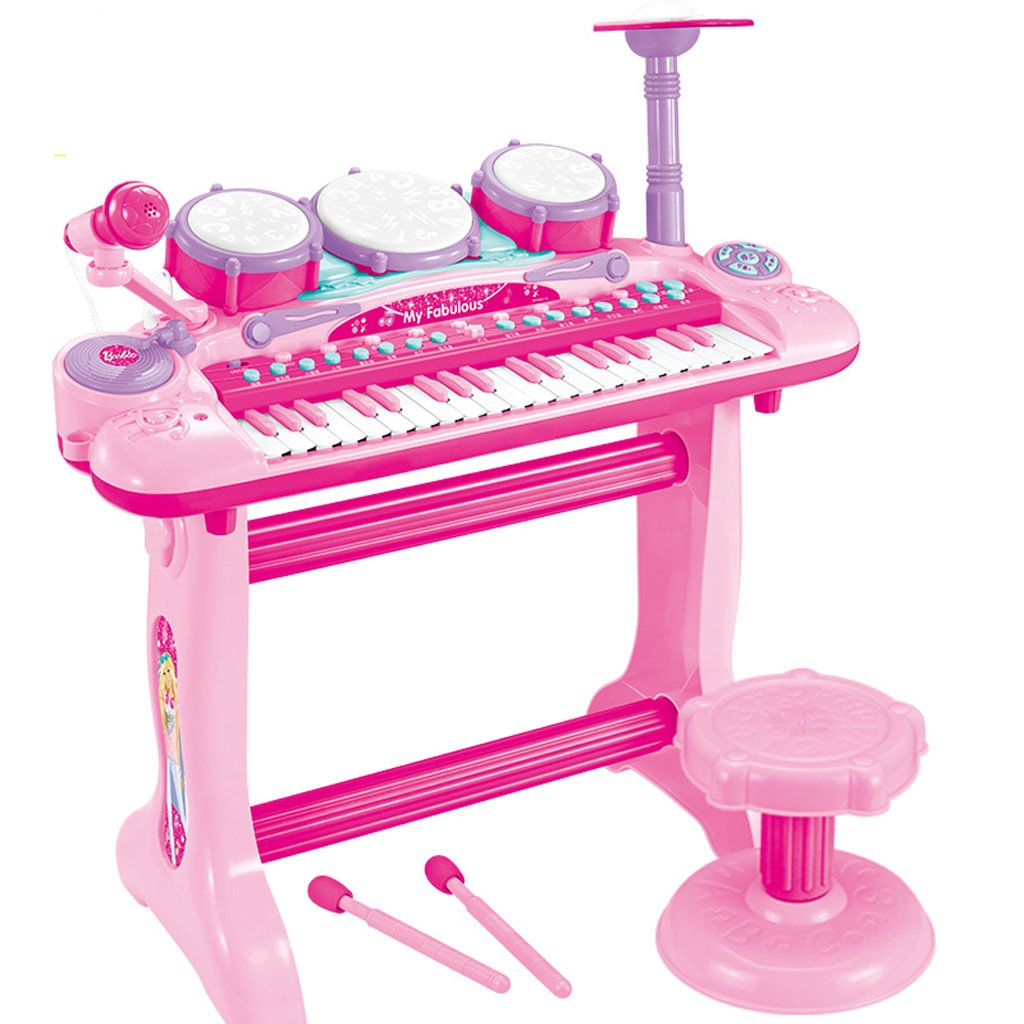 割引購入 DUWENDUWEN 子供のキーボード初心者の少女は1-3-6歳の2つを1つのドラムで演奏できます4つの5つの電池+ドライバーを送るB07FPLY2PX, 湯沢市:ca194e3b --- adornedu.com