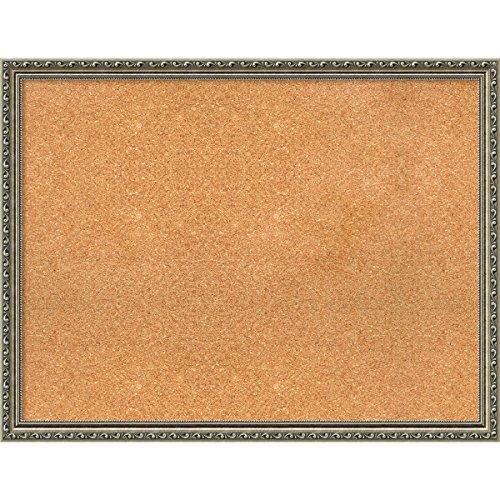 Framed Cork Board, Choose Your Custom Size, Parisian Silver Wood by Amanti Art