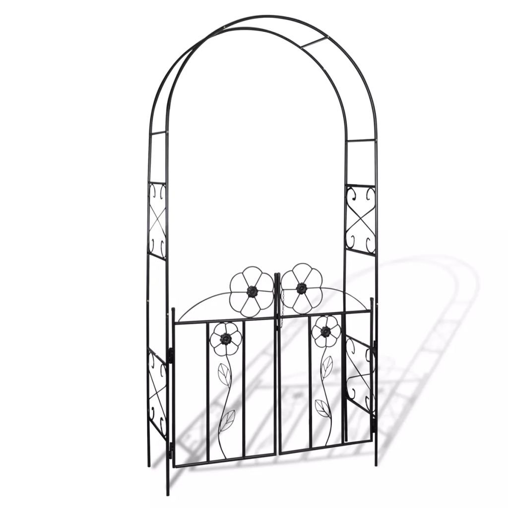 Festnight Metal Garden Arbor Arch Outdoor Patio Garden Gate
