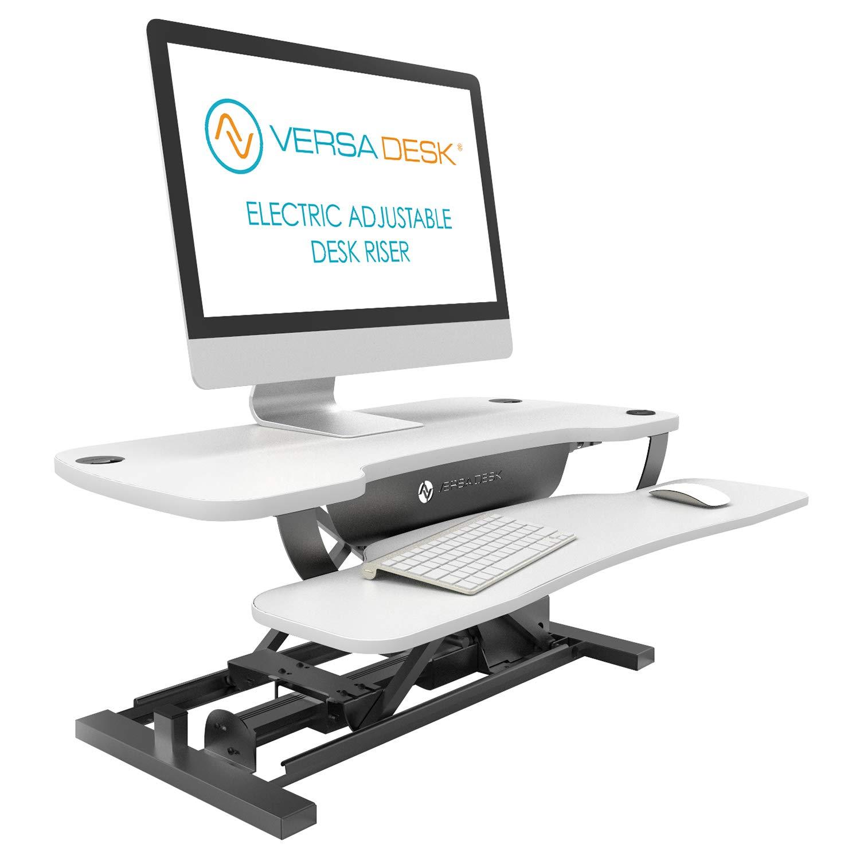 5492bcd2cda1 Versa Tables VT7643024-BW Standing Desk Riser 30 black and white