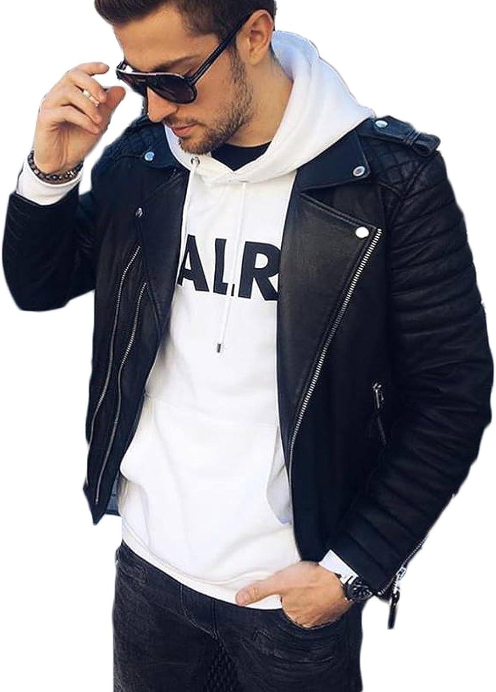 Kingdom Leather New Men Designer Genuine Lambskin Soft Biker Leather Jacket X1008