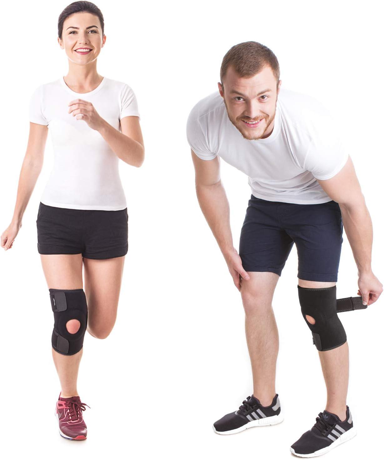 Rodillera de neoprene Totalmente Ajustable-Soportе Rodilla-Ortesis rodilla-Estabilizadora menisco-Ayuda en Lesiones de Ligamentos Artritis Medium