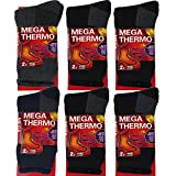 Thermal Socks For Men - 6 Pairs Insulated Heated Socks - Boot Socks For Extreme Temperatures By DEBRA WEITZNER