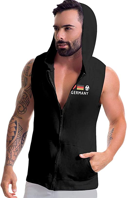 BMWEITIHBQ Mens Sleeveless Sweatshirt Canada Flag Zip Up Vest