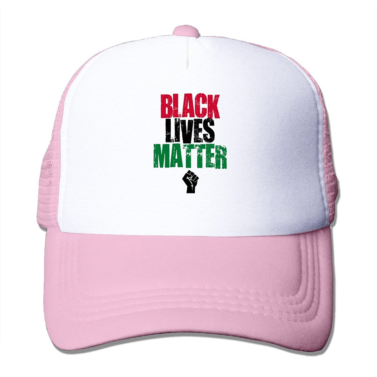 Art Black Lives Matter Logo Adult Nylon Adjustable Mesh Hat Hat Pink One Size Fits Most