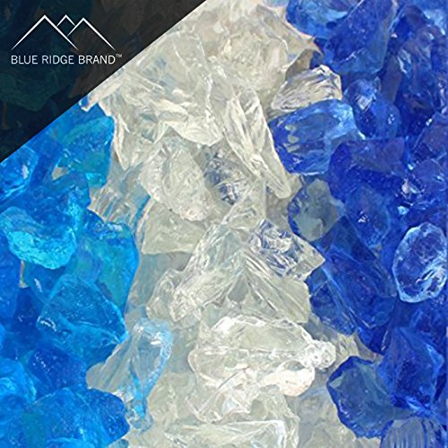 Blue Ridge Brand trade; Ocean Fire Glass Blend - 20-Pound Professional Grade Fire Pit Glass - 1/2