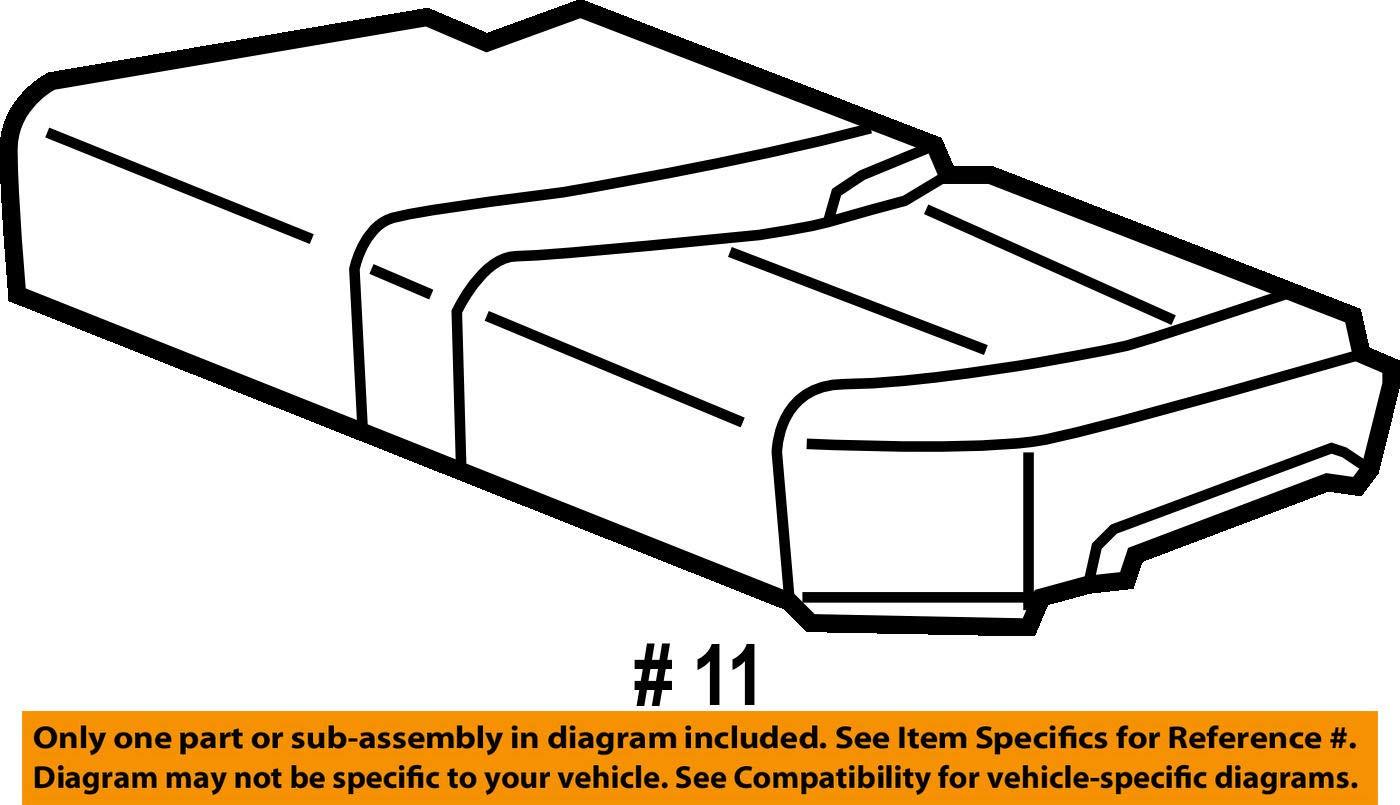Honda Genuine 82531-SJP-L21ZA Seat Cushion Trim Cover Rear Left
