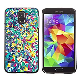 Be Good Phone Accessory // Dura Cáscara cubierta Protectora Caso Carcasa Funda de Protección para Samsung Galaxy S5 SM-G900 // Detailed Fine Shapes Shattered
