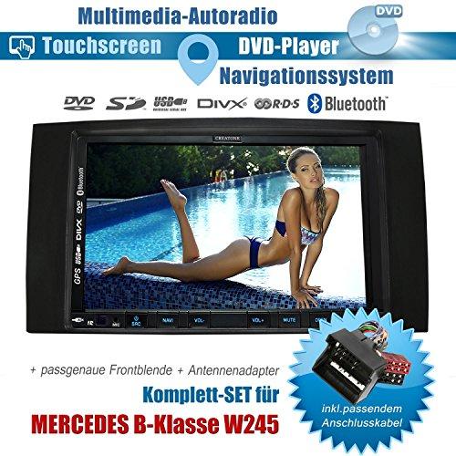 2DIN Autoradio CREATONE CTN-9268D56 für Mercedes B-Klasse W245 (05/2006-06/2011 mit Audiosystem 5 und 20) mit GPS Navigation, Bluetooth, Touchscreen, DVD-Player und USB/SD-Funktion