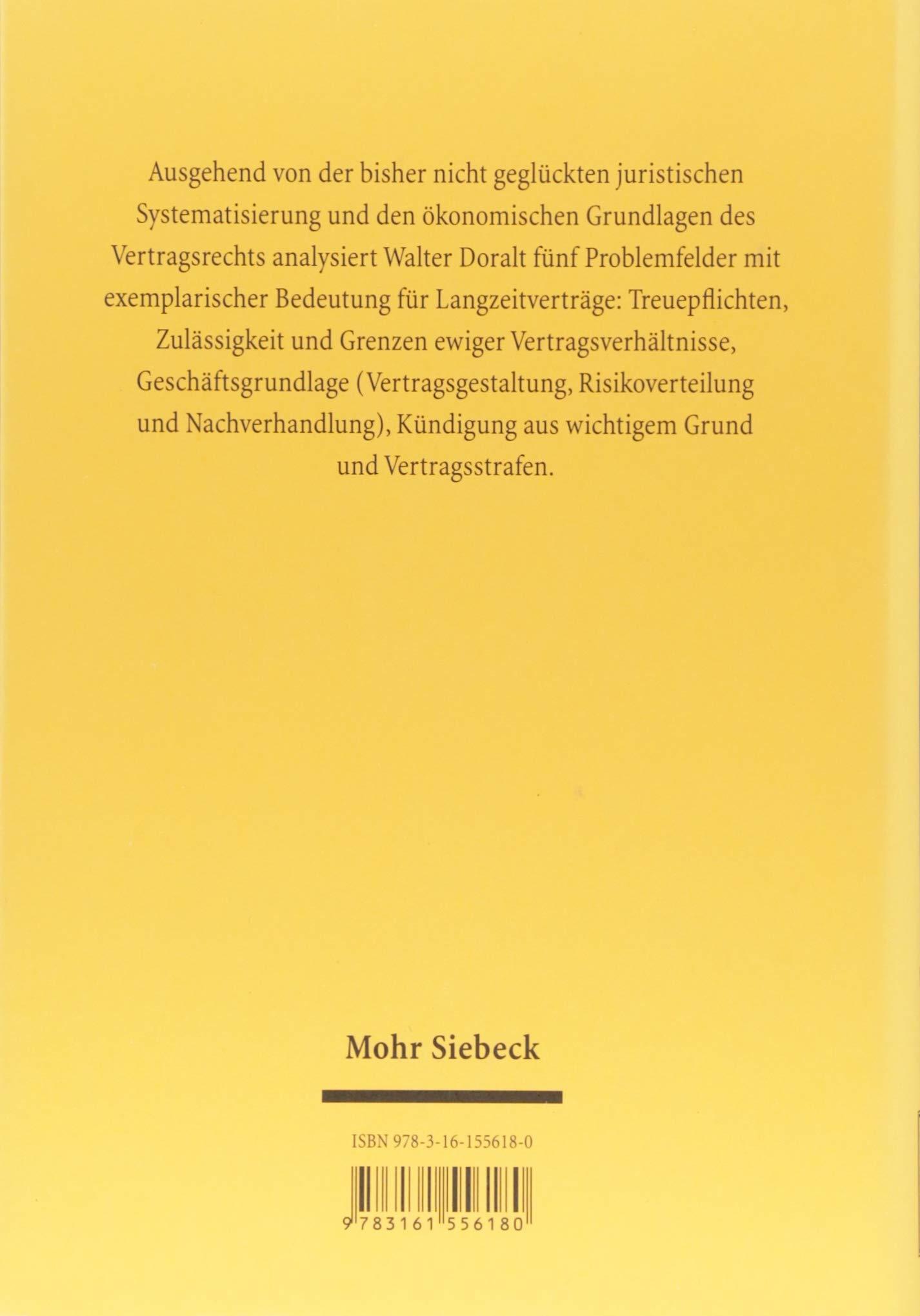 Langzeitverträge Jus Privatum Amazonde Walter Doralt Bücher
