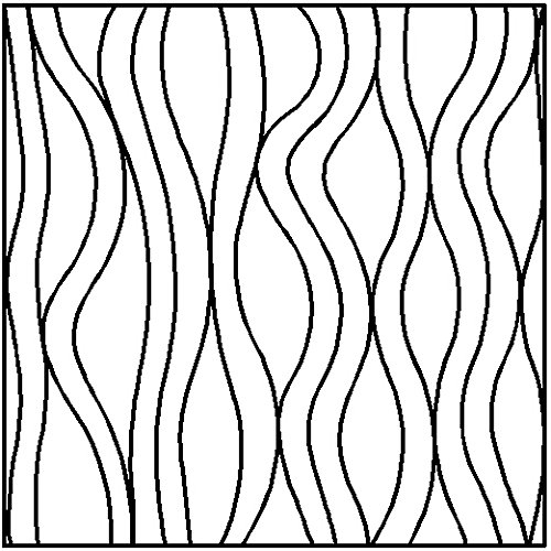 Quilting Creations Flowing Lines Block Continuous Line Quilting Stencil, 10'' by Quilting Creations
