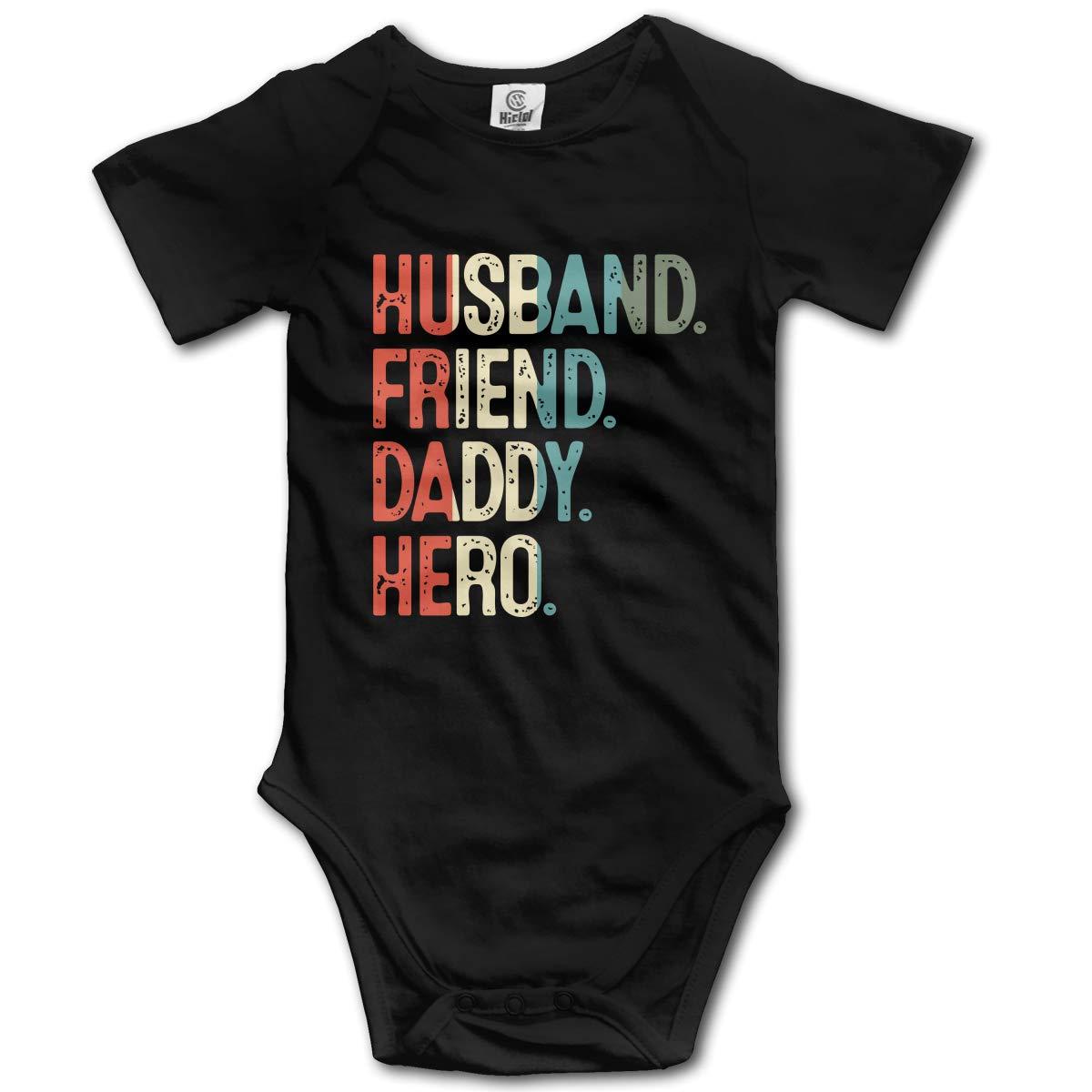 Vintage Husband Friend Daddy Newborn Infant Baby Short Sleeve Romper Jumpsuit 0-24 Months