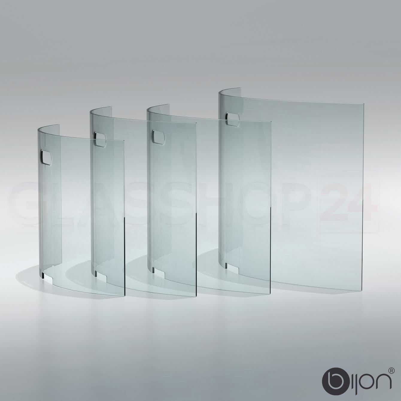 Glasshop24 bijon® Kamin Ofen Glas Funkenschutzgitter Funkenschutz Schutzgitter   95x55x21cm (BxHxT)