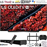 LG OLED65C9PUA OLED65C9 65c9 65' C9 4K HDR Smart OLED TV w/AI ThinQ (2019) w/Soundbar Bundle Includes, Deco Gear Home Theater Surround Sound 31' Soundbar, Flat Wall Mount Kit for 45-90 inch TVs and