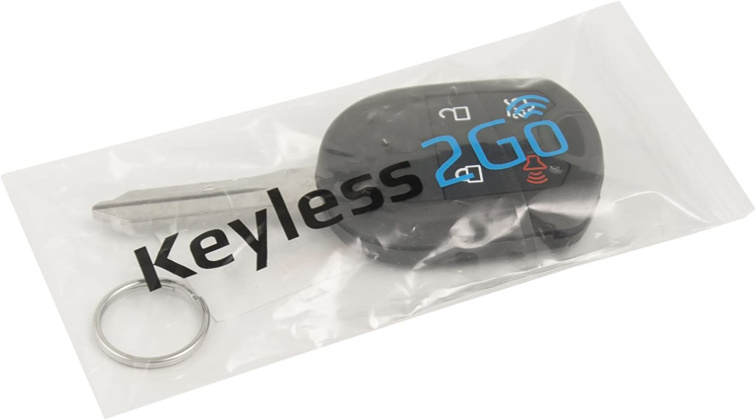 2 Pack Keyless2Go New Uncut Keyless Remote Head Key Fob Replacement for Select Escape Explorer Focus Fusion That use OUC6000022 164-R8073