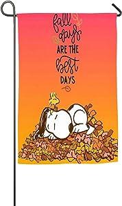 LoV Snoopy Happy Fall Day Garden Flag Home Outdoor/Indoor Yard Flag 12 X 18/18 X 27 in