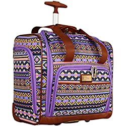 Nicole Miller Chantelle Collection Carry On Under Seat Bag (Purple)