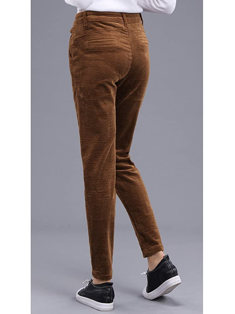 Automne Velours Ochenta Femme Slim Côtelé Pants Pantalon 3Ac4q5jLR