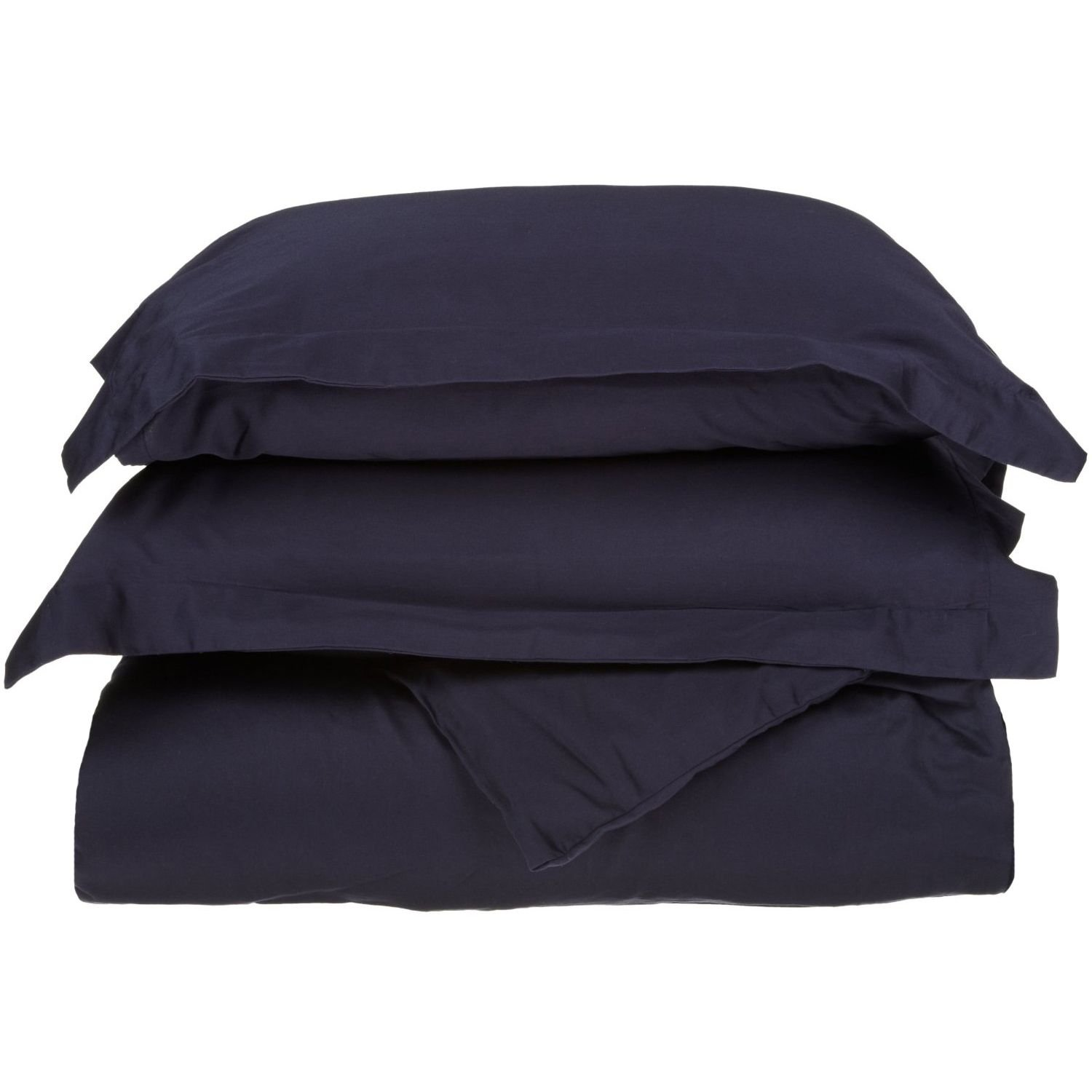 Navy bluee Full Queen 500 Thread Count 100% Cotton, Single Ply, 2-Piece Twin Twin XL Duvet Cover Set, Solid, Ivory