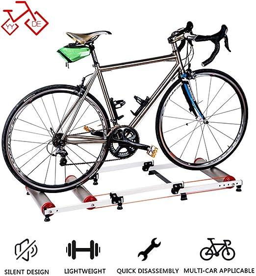 YYDE Bicicleta Trainer Soporte Cubierta del Rodillo Cubierta Bicicleta de Entrenamiento Bicicleta de montaña a Caballo Plataforma Ejercicio Ciclo Trainer (Color: Rosa de Oro, tamaño: 16-29 Pulgadas): Amazon.es: Hogar