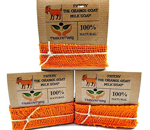 Patchouli Oil Goat Milk Soap With Organic Turmeric and Orange Essential Oil 100% Natural and Handmade Contains Coconut Olive Hemp Oil (3 Pack)