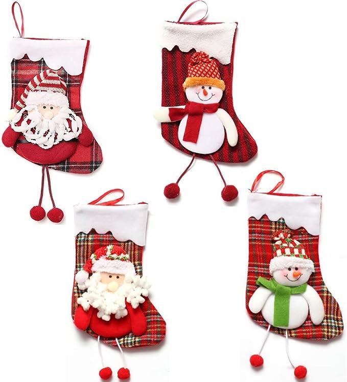 - Grande Chaussette de Noel a Suspendre 47 cm avec GNOME 3D Chaussette Deco Noel pour Les Cadeaux sur la Chemin/ée et en D/écoration de Noel BELLE VOUS Chaussette Cheminee Noel Lot de 2