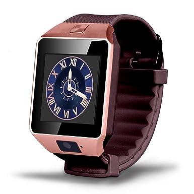 Bluetooth inteligente reloj DZ09 reloj inteligente para Android ISO reloj apoyo Facebook SD SIM con cámara