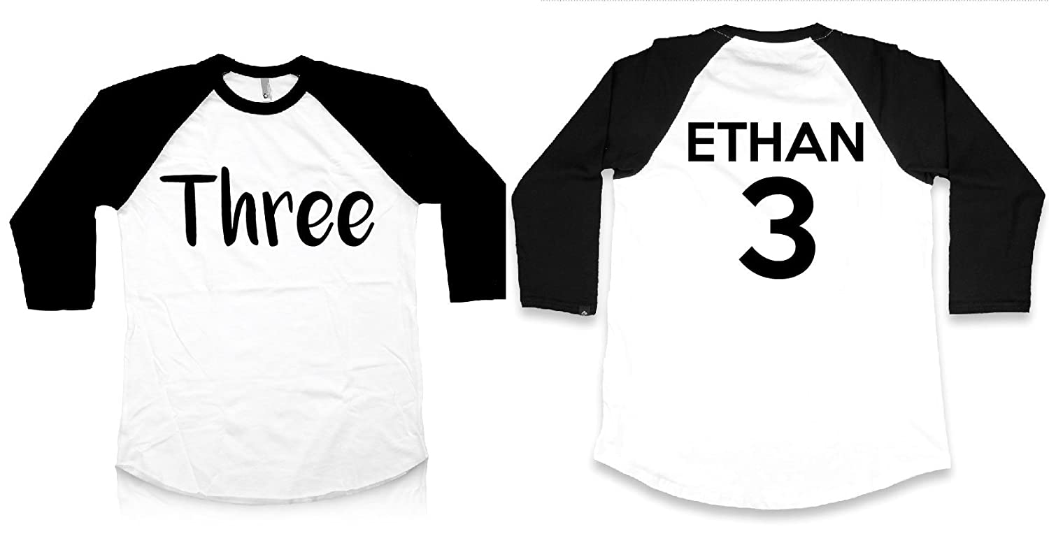 Third Birthday Shirt For Boys Girls Long Sleeve Raglan 3rd I'm This Many