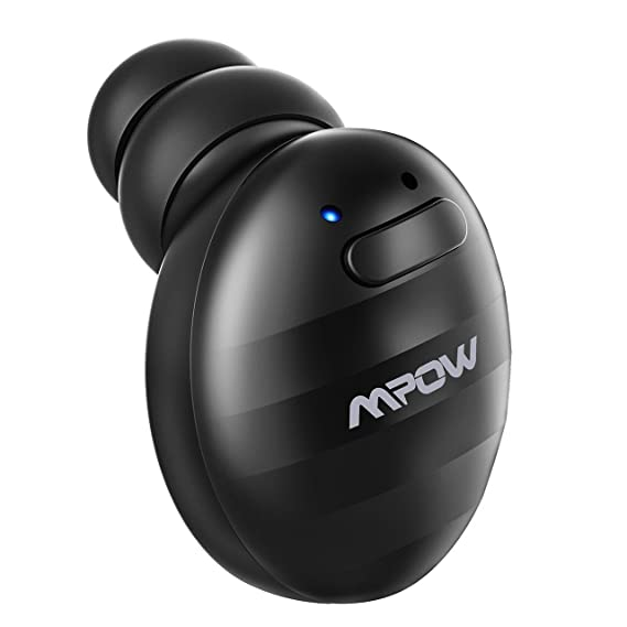 93af914f0e1 Mpow Wireless Earbud with Mic, V4.1 Single Mini Bluetooth Earbud, Invisible  Headphone