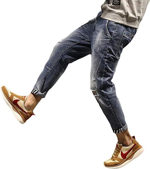 Twinstar メンズ デニム パンツ 大きいサイズ ヴィンテージ デニムパンツ ゆったり おしゃれ カジュアル ジーンズ 9部丈 2色(28~42)
