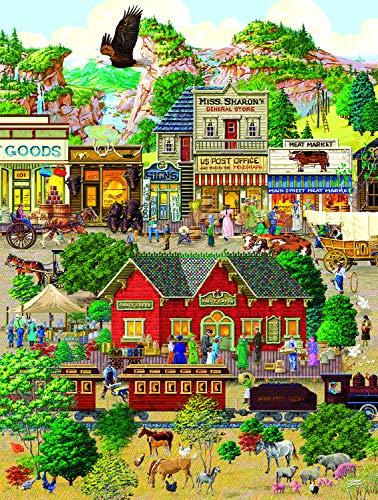 (Sunsout 2019 Western Town by Artist Joseph Burgess 500 Piece Street Scene Jigsaw Puzzle)
