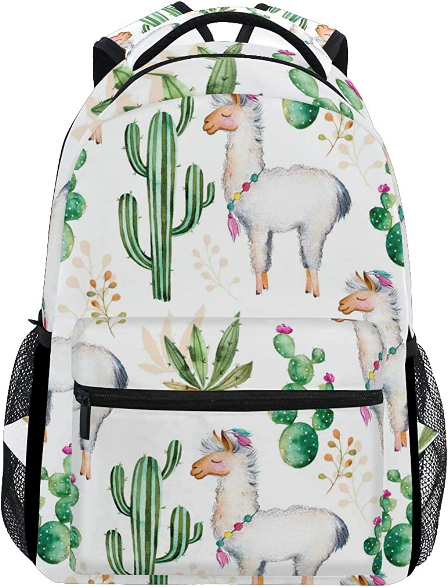 JOKERR Backpack, Tiger Floral Flower Large Capacity Casual Printed Shoulder Bag Daypack Travel Laptop Women Adults Boys Girls