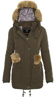 ba0dda04678ca4 Navahoo Damen Winter Jacke Parka Mantel Winterjacke Warm gefüttert B358