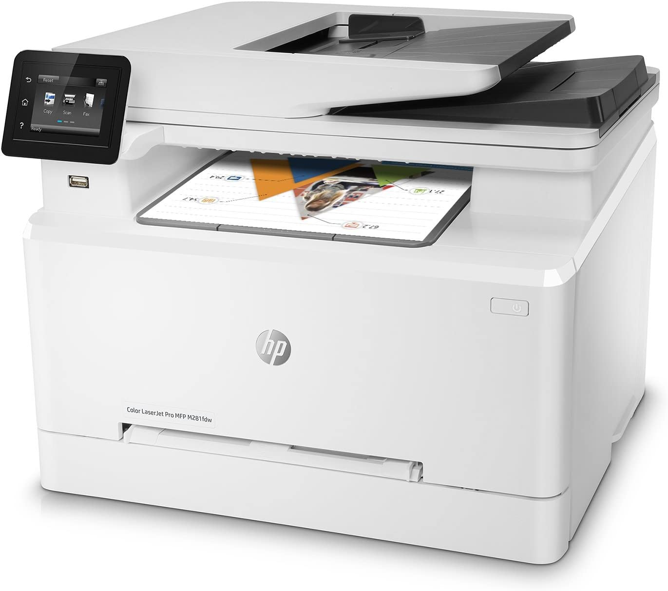 HP Color Laserjet Pro M281fdw Wireless Multifunction Laser Printer (Renewed)