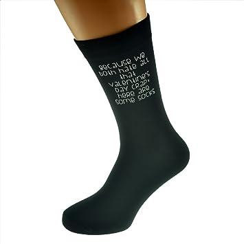 Alternative Funny Valentines Day Message Romantic Design Black Socks